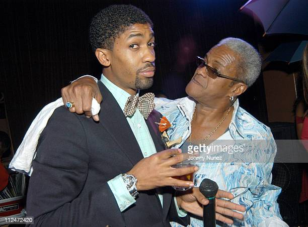 Fonzworth Bentley and George Daniels during Courvoisier's Gentleman's Tour Visits Los Angeles at Sunset Room in Los Angeles California United States