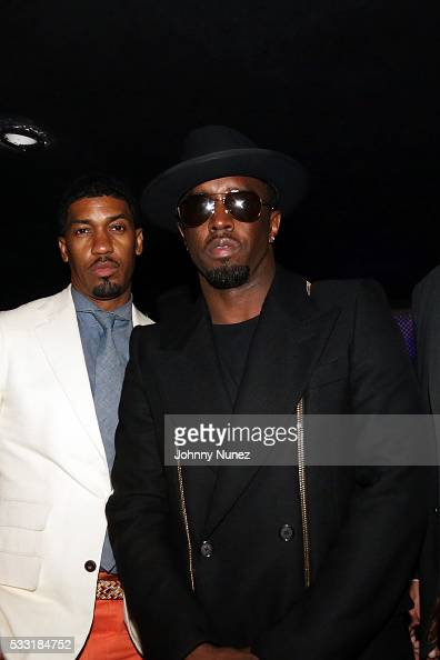 Fonzworth Bentley and Puff Daddy attend Puff Daddy's Official Bad Boy Reunion After Party at Highline Ballroom on May 20 in New York City