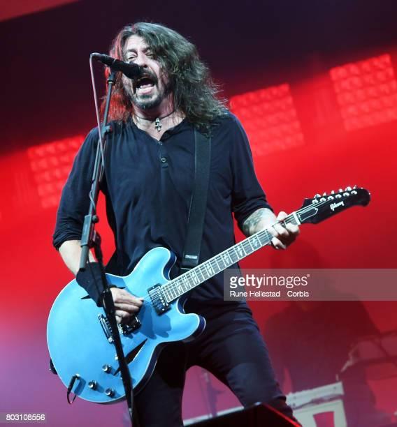 Foo Fighters perform on day 3 of the Glastonbury Festival 2017 at Worthy Farm Pilton on June 24 2017 in Glastonbury England