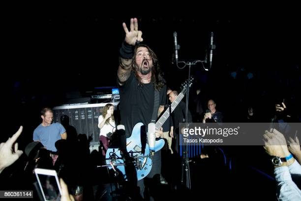 Foo Fighters perform on stage during the iHeartRadio Foo FAnthem Show at The Anthem on October 11 2017 in Washington DC