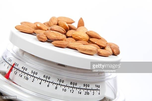 Food Almonds on Scale