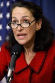 Food and Drug Administration Commissioner Margaret Hamburg speaks during a news conference to give updates on the H1N1 outbreak and the government's...