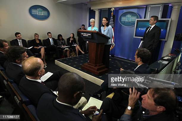 Food and Drug Administration Commissioner Margaret Hamburg speaks as Secretary of Health and Human Services Kathleen Sebelius and White House Press...