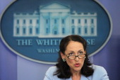 Food and Drug Administration Commissioner Margaret Hamburg speaks during the daily White House briefing June 21 2011 at the White House Briefing Room...