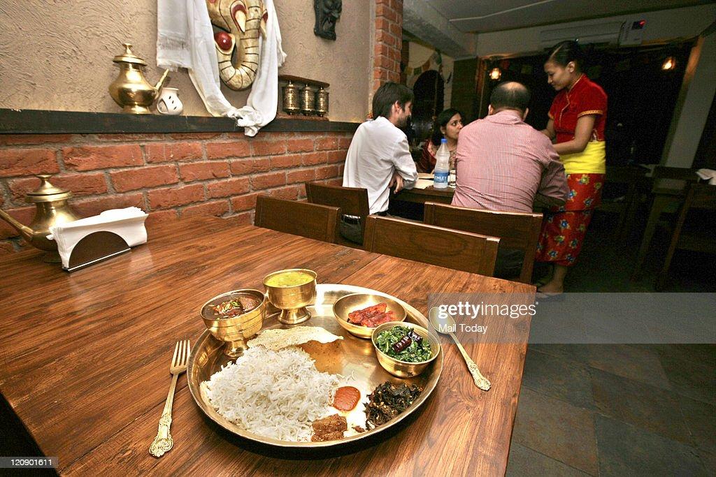 Food at Yeti The Himalayan Kitchen Restaurant at Hauz Khas Village in New Delhi