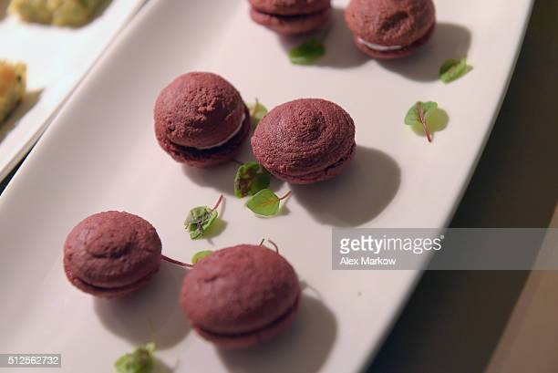 Food being served at a Dinner Hosted By Marc Vetri And Giovanni Rocchio Part of the Taste Fort Lauderdale Seriesduring 2016 Food Network Cooking...