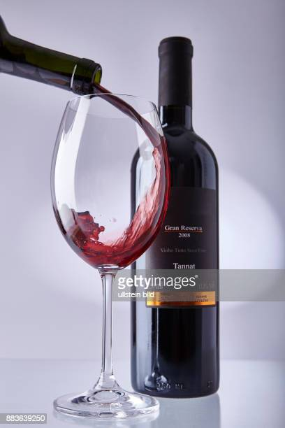 Food Beverage Red wine glass of red wine bottle of red wine
