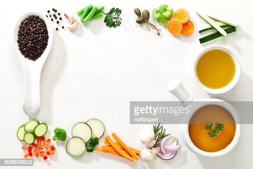 Food border : Stock Photo