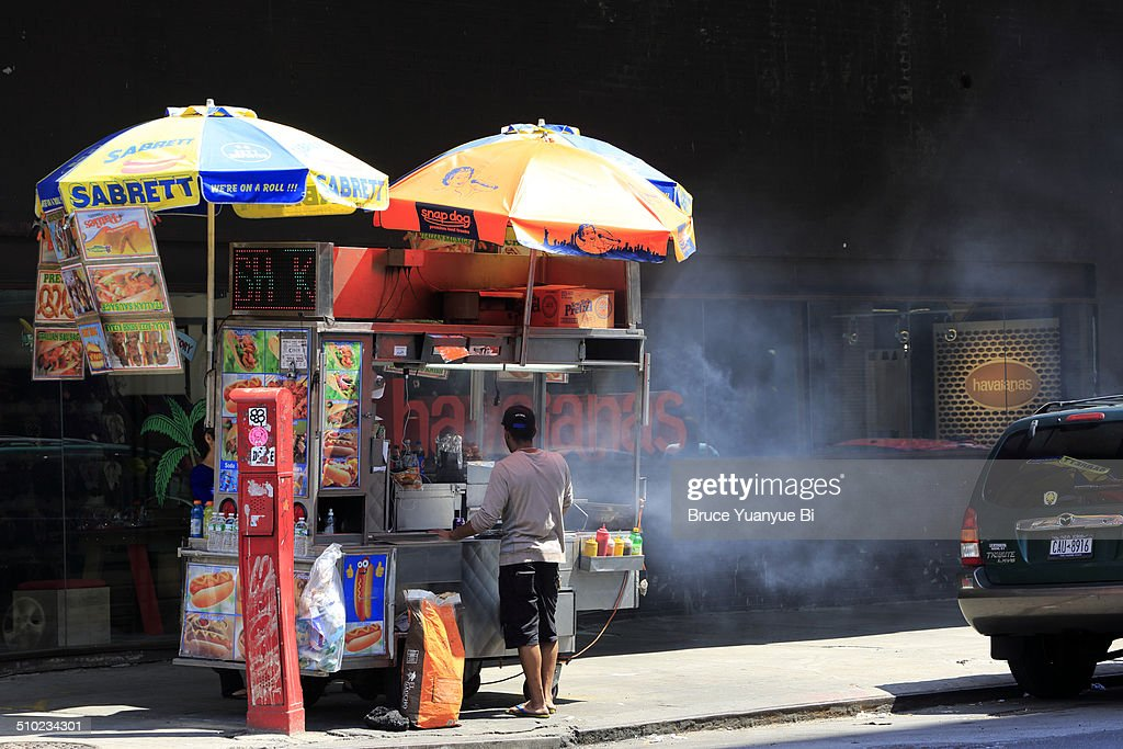 A food cart in Meatpacking District