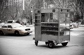 Food cart on street