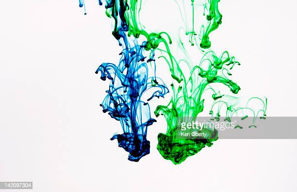 Food coloring makes abstract patterns in water, Lake Tahoe, California.