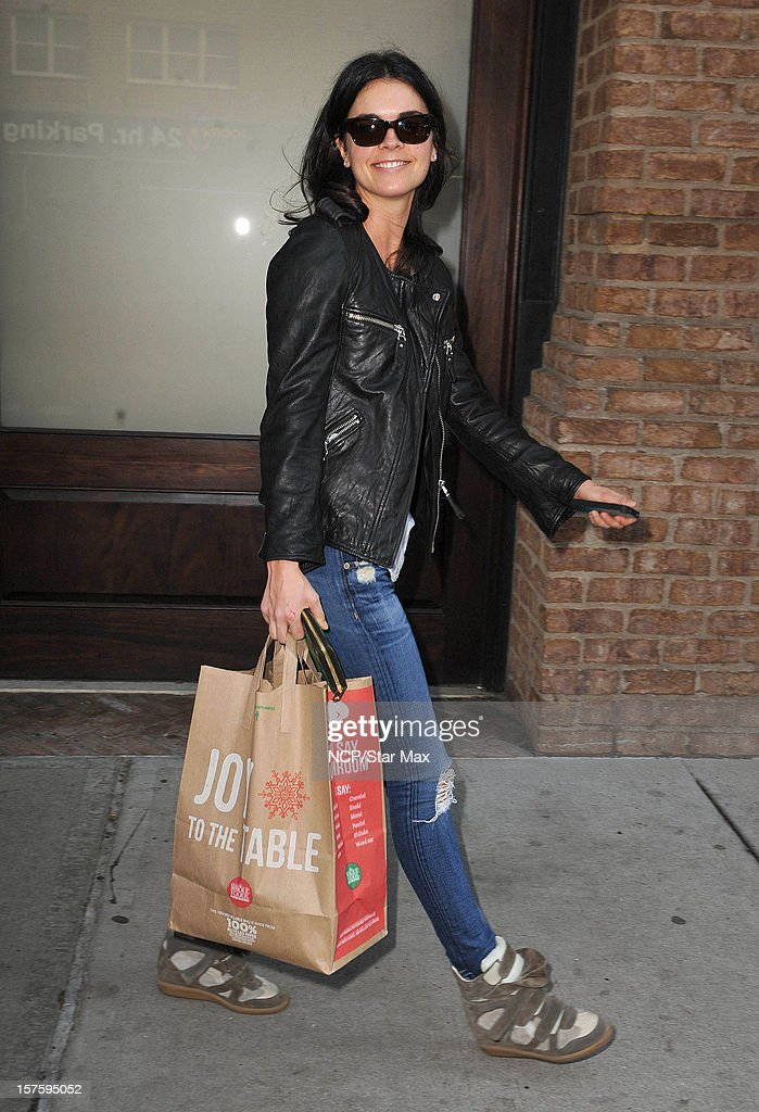Food Critic Katie Lee Joel sighting on December 4, 2012 in New York City.