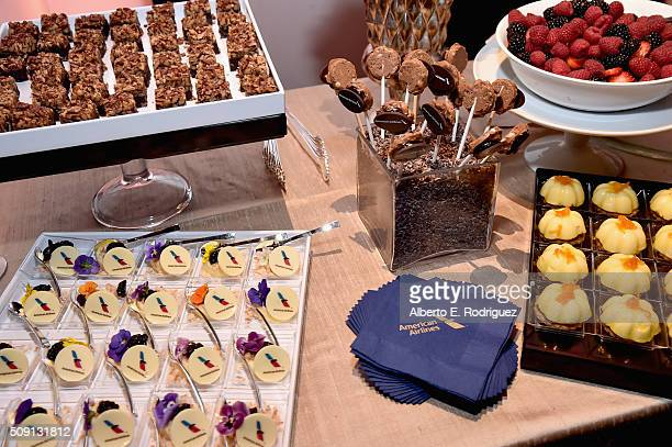 Food displayed at The Hollywood Reporter's 4th Annual Nominees Night at Spago on February 8 2016 in Beverly Hills California