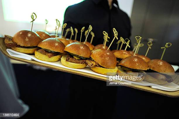 Food Displays at City Harvest's Big Apple Big Easy Event at Riverpark Restaurant on February 7 2012 in New York City