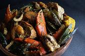 Crab-shrip-mussels-clams-squid