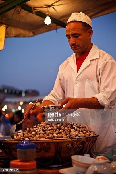 Food hawker in Marrakech