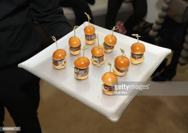 Food is served at the Female Bosses celebration and BOSS BITCH book launch and interactive panel event at The Core Club on March 22 2017 in New York...