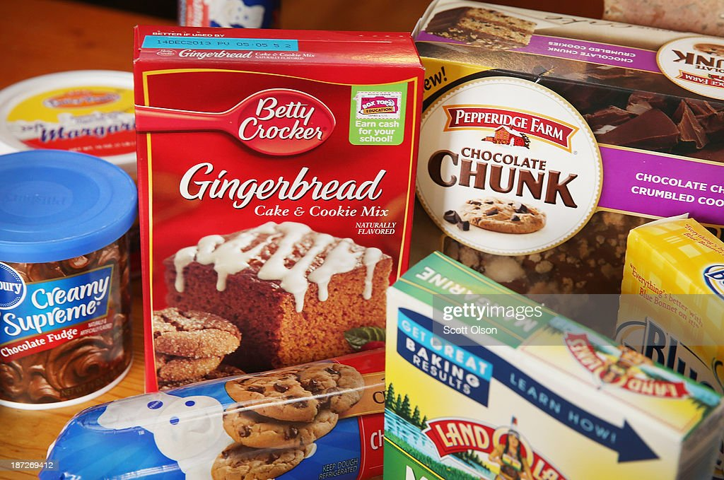 Food items which contain trans fat are shown on November 7, 2013 in Chicago, Illinois. The U.S. Food and Drug Administration today proposed a rule change that would eliminate trans fat from all processed foods.