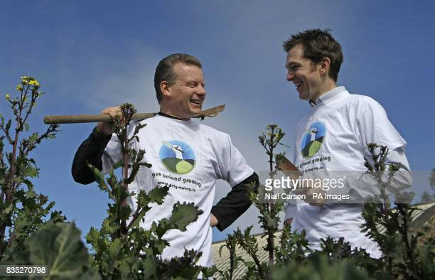 Food Minister Trevor Sargent and Green Party Dublin City Council candidate Gary Fitzgerald launch the Get Ireland Growing campaign at the city's...
