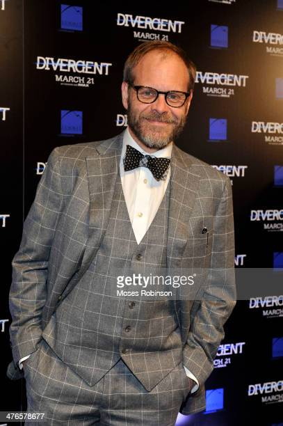 Food Network's Host Alton Brown attends the 'Divergent' screening at Regal Atlantic Station on March 3 2014 in Atlanta Georgia