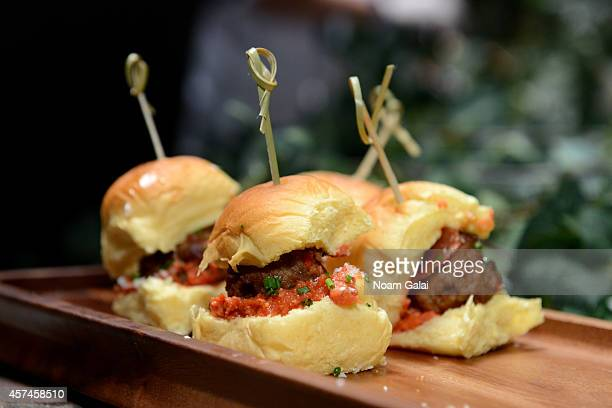 Food on display at Stacked A Sandwich Showdown presented by Martin's Famous Potato Rolls hosted by Restaurant Impossible's Robert Irvine during the...