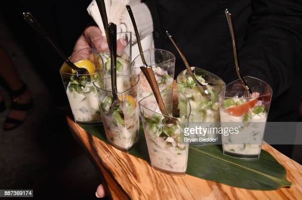 Food on display DuJour's Jason Binn And WellNEST Celebrate Miami Beach's Art Basel KickOff at The Confidante on December 6 2017 in Miami Beach Florida