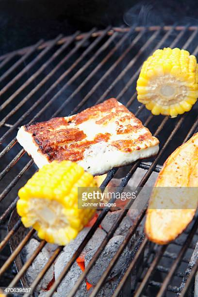 Food on grill
