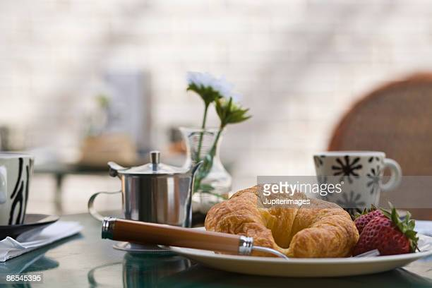 Food on restaurant table