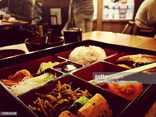 Food On Tray In Restaurant