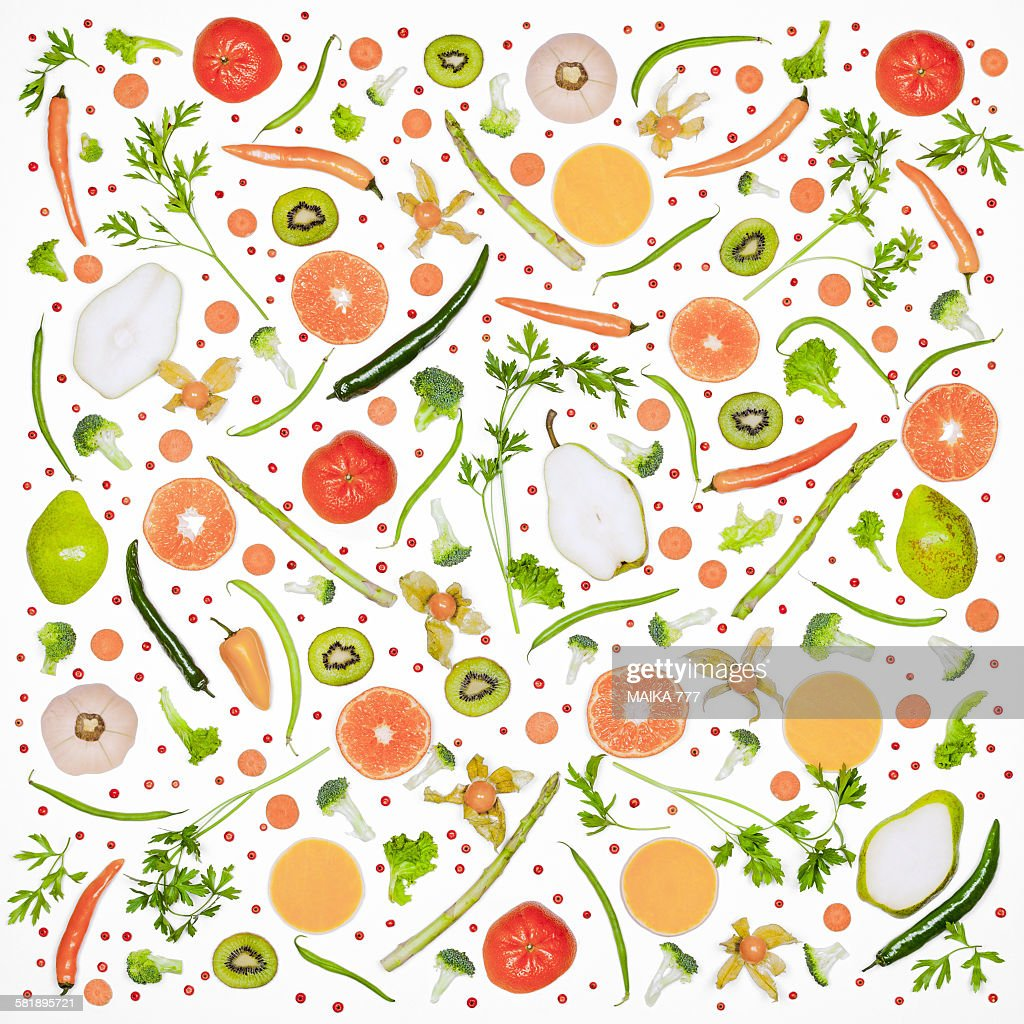 food pattern with fresh vegetables and fruits stock photo getty