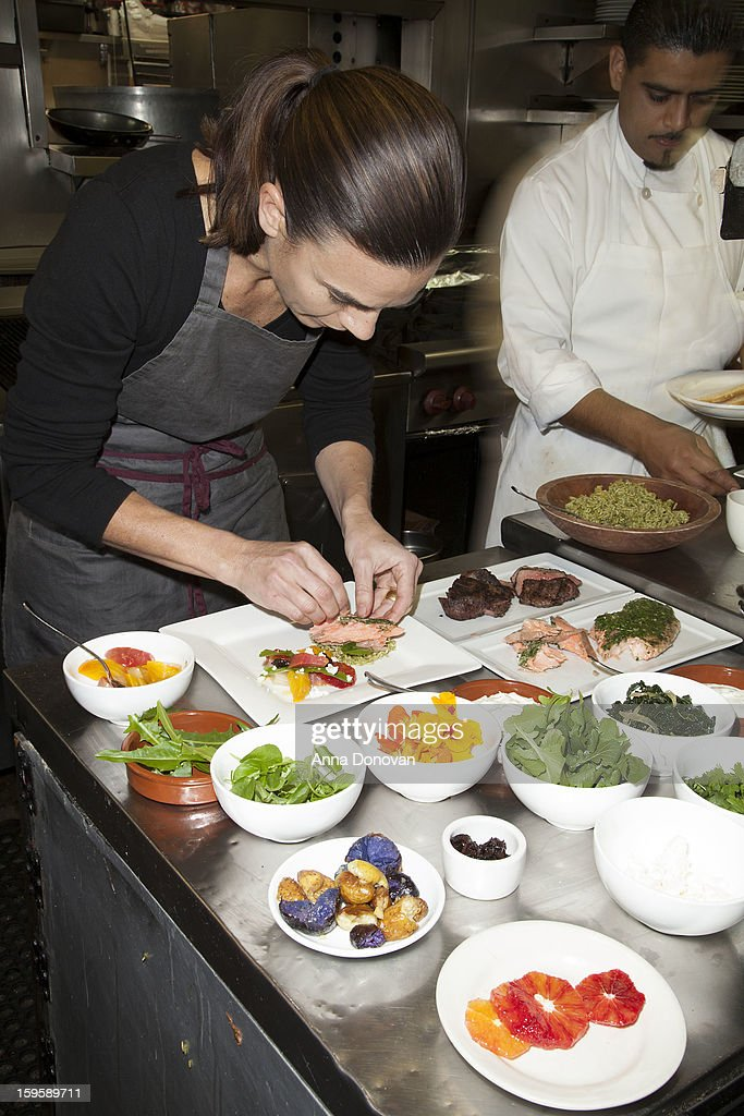 Food prepared by Lucques chef Suzanne Goin which will be served at the 19th annual SAG Awards during menu tasting event at Lucques Restaurant on January 16, 2013 in Los Angeles, California. The 19th Annual Screen Actor Guild Awards will be held at the Shrine Auditorium in Los Angeles on January 27.