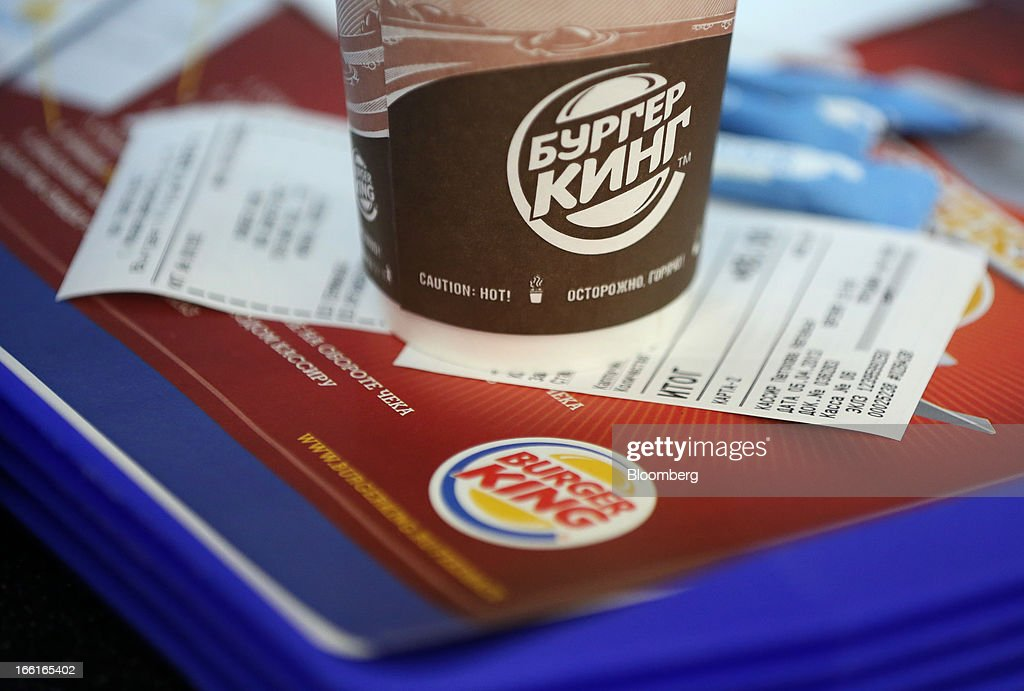 A food receipt sits on a meal tray inside a Burger King fast food restaurant in Moscow, Russia, on Friday, April 5, 2013. McDonald's, which virtually created the market for burgers and fries in the country and convinced Russians it's OK to eat with their hands, must fend off a growing challenge from rivals Burger King Worldwide Inc., Subway Restaurants, Yum! Brands Inc. and Wendy's Co. Photographer: Andrey Rudakov/Bloomberg via Getty Images