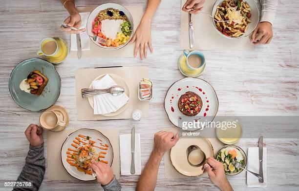 Food served at a restaurant