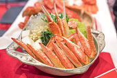 Food served in a pot Japan of the crab