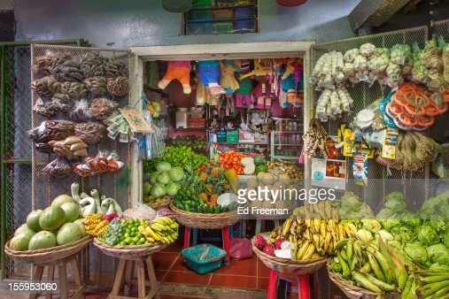 Food Stall, Marketplace, Nicaragua : Stock Photo