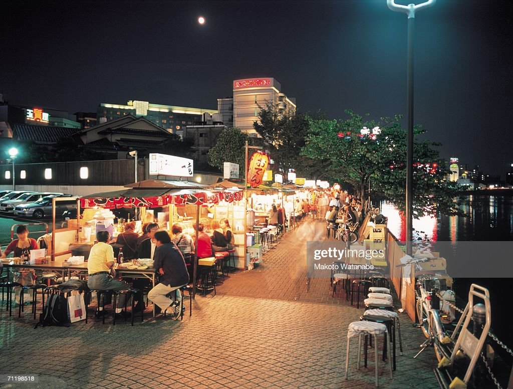 Food stalls in Nakasu, Fukuoka Prefecture, Japan