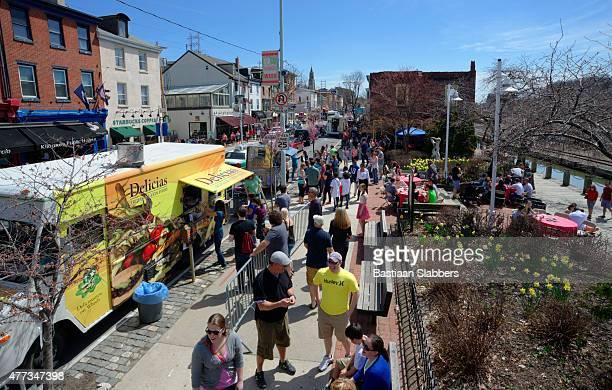 Food Truck Festival on Manayunk' Main Street in Philadelphia, PA