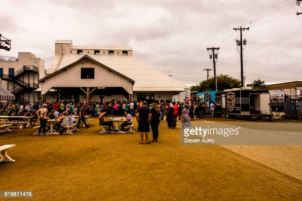 WACO, TX, USA  MARCH 18, 2017:  Food trucks lined up on the grounds of Magnolia Silos.