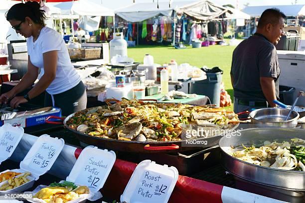 Food vendor at a community festival