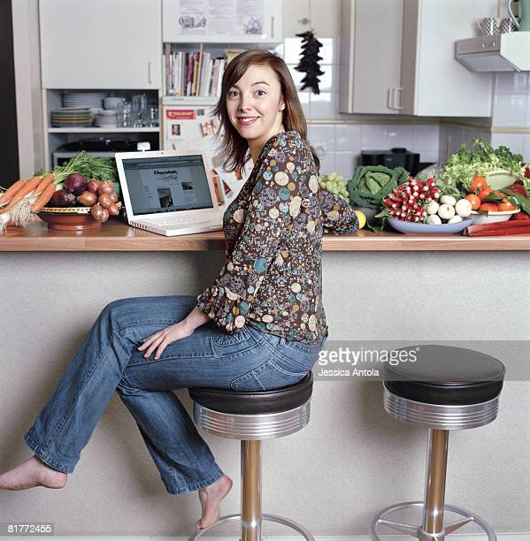 Food writer and blogger Clotilde Dusoulier is photographed in her apartment in Paris