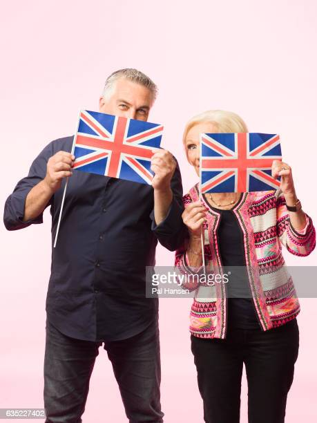 Food writer and tv presenter Mary Berry is photographed with Paul Hollywood for the Observer on May 27 2016 in London England