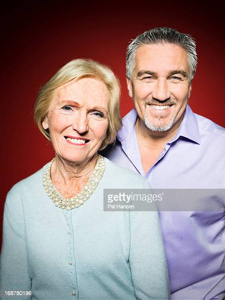 Food writer Mary Berry and master baker Paul Hollywood are photographed for the Observer on October 16 2012 in London England