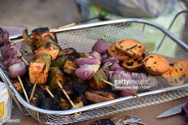 Foods preparing at outdoors