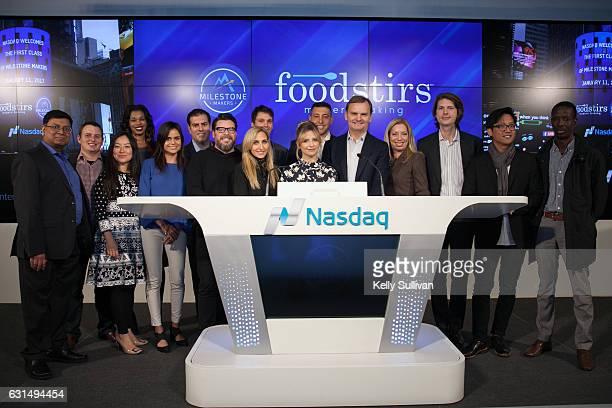 Foodstirs cofounders Greg Fleishman Galit Laibow Sarah Michelle Gellar and Bruce Aust Vice Chairman of Nasdaq and President of the Nasdaq...