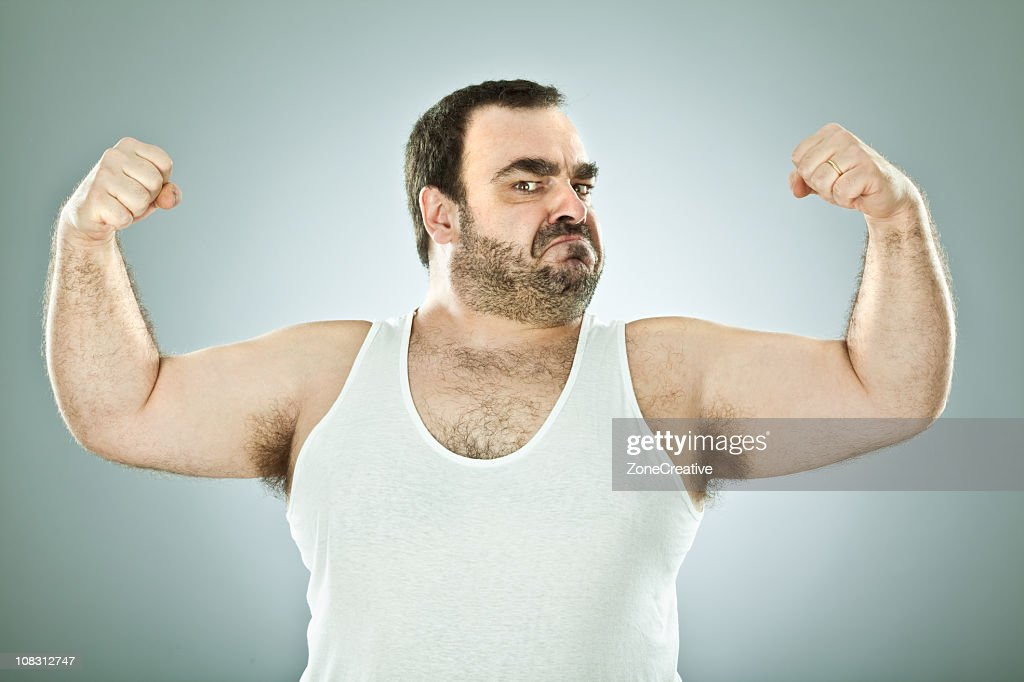 fool macho man : Stock Photo