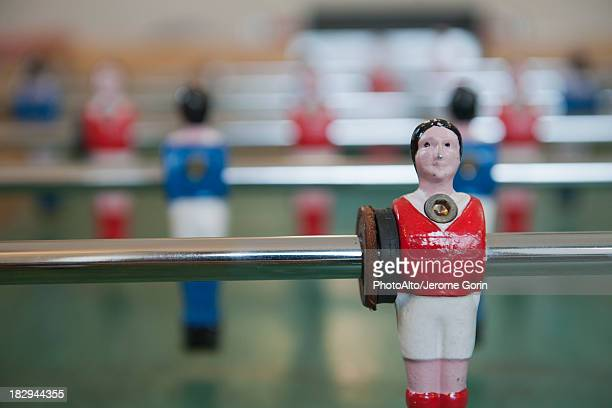 Foosball table, close-up