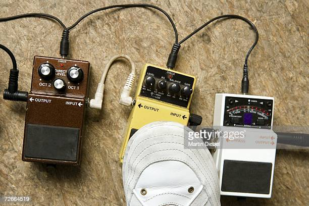 Foot distortion and effect pedals
