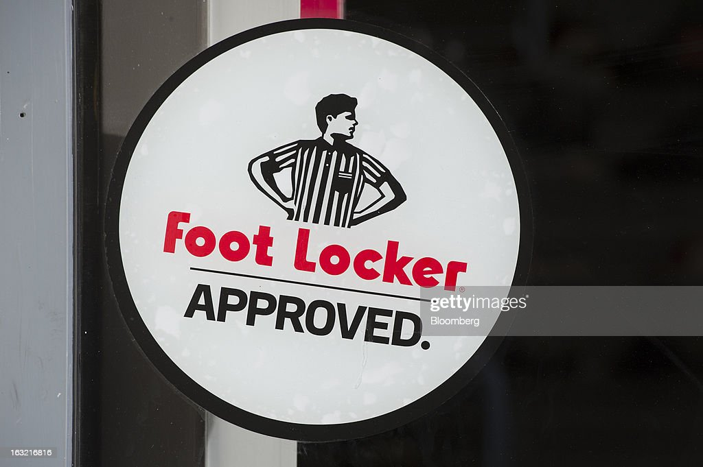 Foot Locker Inc. signage is displayed in the window of a store in Oakland, California, U.S., on Tuesday, March 5, 2013. Foot Locker Inc. is expected to release earnings data on March 8. Photographer: David Paul Morris/Bloomberg via Getty Images