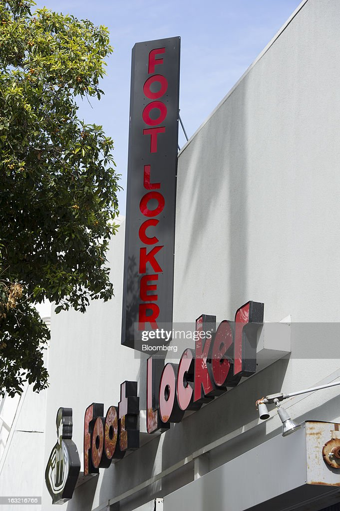 Foot Locker Inc. signage is displayed outside of a store in San Francisco, California, U.S., on Tuesday, March 5, 2013. Foot Locker Inc. is expected to release earnings data on March 8. Photographer: David Paul Morris/Bloomberg via Getty Images
