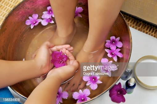 Foot massage and spa : Foto de stock